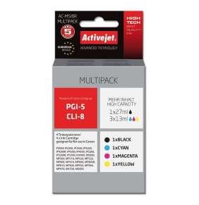 Atrament ActiveJet pre Canon PGI-5/CLI-8 AC-M5/8R Black/Cyan/Magenta/Yellow 27 ml/ 3x13 ml