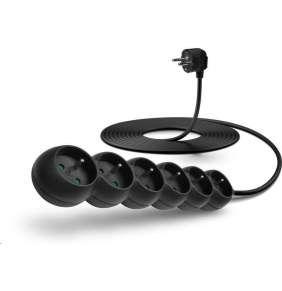 CONNECT IT prodlužovací kabel 230 V, 6 zásuvek, 5 m, bez vypínače (černý)