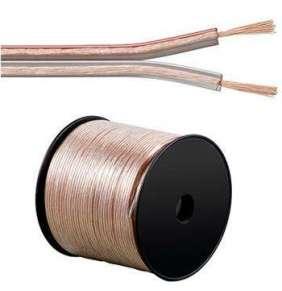 PremiumCord kabel 1m (jenom po 100m cela civka) na propojení reprosoustav 100% CU měď 2x 2,5mm2