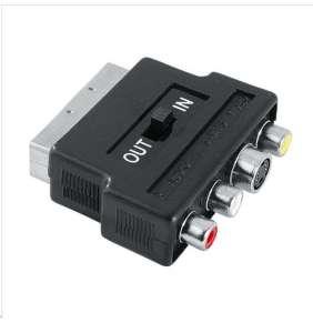 Hama redukce SCART vidlice - 3 cinch AV + S-video zásuvka, IN/OUT