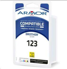 ARMOR ink-jet pre BROTHER DCP J4110DW, MFC J4310, 4410, 4510DW, 600 strán, LC123Y, žltá/yellow (LC-123Y)