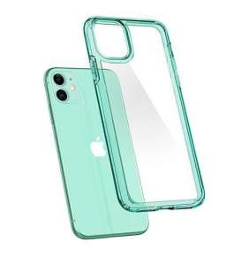Spigen kryt Ultra Hybrid pre iPhone 11 - Green Crystal