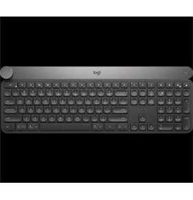 Logitech klávesnice Craft Advanced with Creative Input Dial, CZ/SK, černá/ podsvícená/bluetooth/bezdrátová