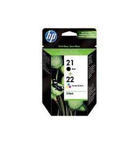 HP no. 21+22 - černá + barevná ink.kazeta, SD367AE