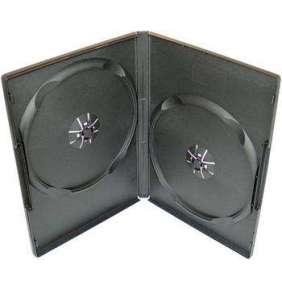 COVER IT Krabička na 2 DVD 9mm slim černý 10ks/bal