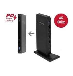 Delock Dokovací stanice USB Type-C™ DP 1.4 4K - HDMI / DP 1.4 / USB 3.2 / LAN / PD 3.0