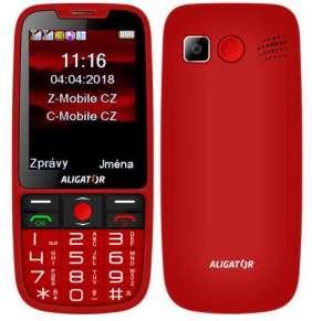 Aligator A890 GPS Senior, Dual SIM, červená