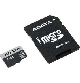 ADATA Micro SDXC karta Premier Pro 64GB UHS-I U3, (R:100MB)