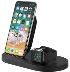 Belkin Wireless Charging Dock pre iPhone/Apple Watch + USB-A port - Black