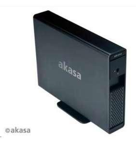 """AKASA HDD box Lokstor X31, 1x 3,5"""" SATA HDD, USB 3.0, E-SATA, hliník, černá"""