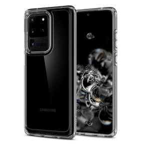 Ochranný kryt Spigen Ultra Hybrid pro Samsung Galaxy S20 ultra transparentní