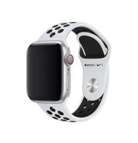 Apple Watch 40mm Pure Platinum/Black Nike Sport Band - S/M & M/L