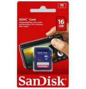 SanDisk 16GB SDHC Card Standard (Class 4)