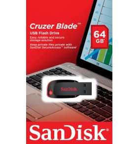 SanDisk Flash Disk 64GB Cruzer Blade, USB 2.0, černá