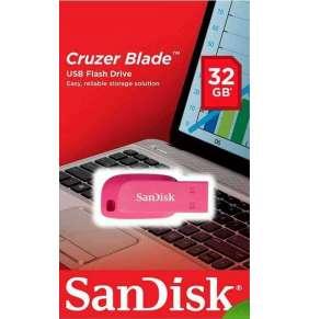 SanDisk Flash Disk 32GB Cruzer Blade, USB 2.0, růžová