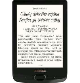"PocketBook 616 Basic Lux 2, Obsidian Black, 6"" HD E Ink 1024x758, 8GB+microSD, WiFi, CZ menu"