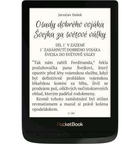 PocketBook 627 Touch Lux 4, Obsidian Black, 6´´ E-ink 1024x758 LCD, WLAN b/g/n, 8GB/SD