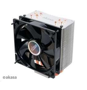 AKASA chladič CPU NERO 3 pro patice LGA 775,115x, 1366, 2011, 2066 Socket AMx, FMx, měděné jádro, 120mm PWM ventilátor