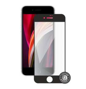 Screenshield APPLE iPhone SE (2020) Tempered Glass protection (full COVER black)
