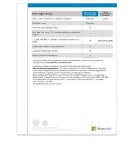 Microsoft 365 Business Standard Eng - předplatné na 1 rok