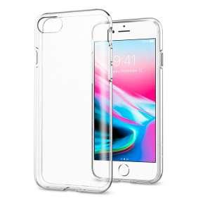 Spigen kryt Liquid Crystal pre iPhone 8/SE 2020 - Crystal Clear