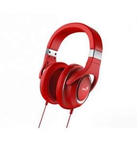GENIUS headset HS-610/ sluchátka s mikrofonem, 3,5mm jack - 4-pin,červené