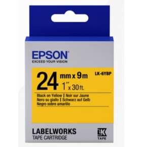 Epson Label Cartridge Pastel LK-6YBP Black/Yellow 24mm (9m)