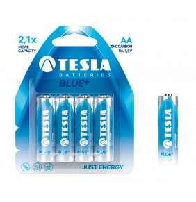 Tesla AA BLUE+ zinkouhlíková, 4 ks