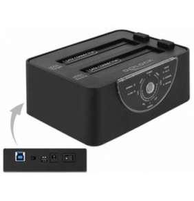 Delock USB 3.0 Dualní dokovací stanice pro 2 x SATA HDD / SSD s funkcí klonování a mazání v kovovém krytu