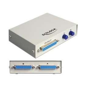 Delock Paralelní Switch Sub-D 25 pinů 2-portový manuální