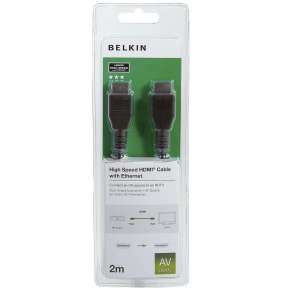Belkin kabel HDMI HighSpeed 3D s Ethernetem, nikl - 2m