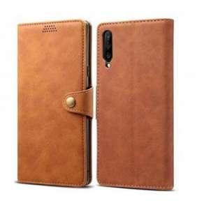 Lenuo Leather pro Huawei P Smart Pro/Y9s, hnědá