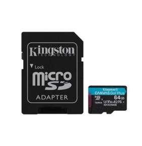 Kingston 64GB microSDXC Canvas Go Plus 170R A2 U3 V30 Card + ADP