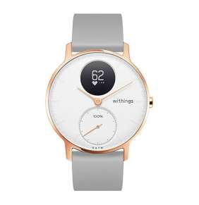 Withings Steel HR (36mm) Rose Gold w/ Grey Silicone wristband