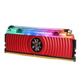 DIMM DDR4 16GB 3200MHz CL16 (KIT 2x8GB) ADATA SPECTRIX D80 RGB, Hybrid Cooling, Dual Box, Red