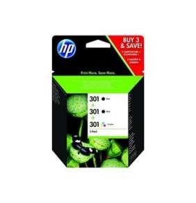 HP 301 Black(2)/Tri-color(1) 3-pack Original Ink Cartridges E5Y87EE