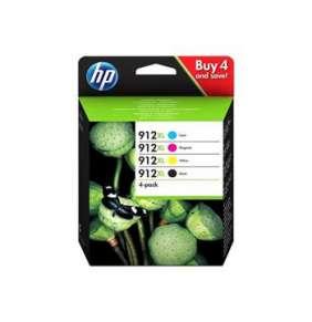 HP 912XL High Yield C/M/Y/K Original Ink Cartridge 4-Pack