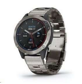 GARMIN GPS chytré jachtařské hodinky Quatix6 PRO Sapphire Titanium/Titanium Band