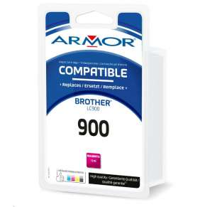 ARMOR cartridge pro BROTHER DCP-110/115 Magenta / červená (LC900M) 13ml 500 stran