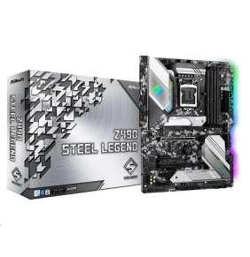 ASRock MB Sc LGA1200 Z490 STEEL LEGEND, Intel Z490, 4xDDR4, VGA