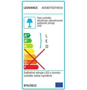 Svítidlo venkovní přisazené LED 13W 3000K 480lm čtverec šedá IP54