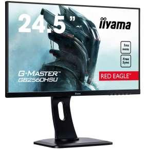 "25"" iiyama G-Master GB2560HSU-B1 - TN,FullHD,1ms,400cd/m2, 1000:1,16:9,HDMI,DP,repro,pivot,výška."