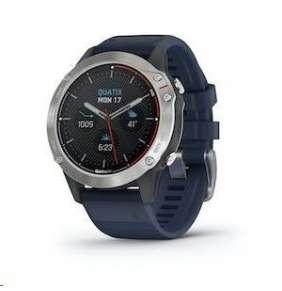 GARMIN GPS chytré jachtařské hodinky Quatix6 PRO Glass Silver/Blue Band