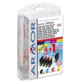 ARMOR ink-jet pre EPSON Stylus D78, D92, D120, DX4000, DX4050, DX4400, DX4450, DX5000, DX5050 Seriepack 4+1 ( 1x black