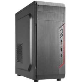 CRONO skříň Middle Tower MT-X5/ bez zdroje/ 1x USB 3.0/ 2x USB 2.0/ 2x 3.5mm jack/ černý