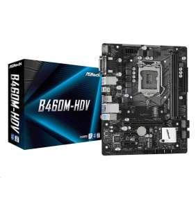 ASRock B460M-HDV / LGA 1200 / Intel B460 / 2x DDR4 DIMM / D-Sub / DVI-D / HDMI / M.2 / mATX