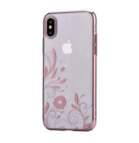 Devia kryt Crystal Petunia Case pre iPhone X/XS - Red