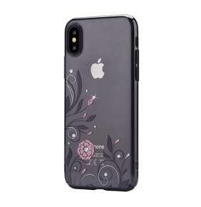 Devia kryt Crystal Petunia Case pre iPhone X/XS - Black