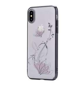 Devia kryt Crystal Lotus Case pre iPhone X/XS - Black