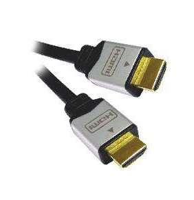 PremiumCord kabel HDMI M/M, zlac.a kovové HQ, 1m